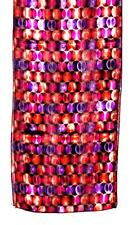 SCARF Long Tan Fuchsia Purple Orange Black INTERLOCKING CIRCLES