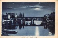 CPA 54 NANCY LA NUIT LE PONT ESSEY