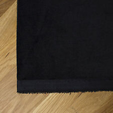 Thick Heavy Black   Cotton Velvet Fabric - For Curtains and Furnishings