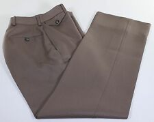 VINTAGE Polo Ralph Lauren Brown Flat Front Dress Pants Wool 25W 29L EXTRA SLIM