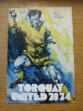 29/08/1973 Torquay United v Plymouth Argyle [Football League Cup] (Slight Fold)