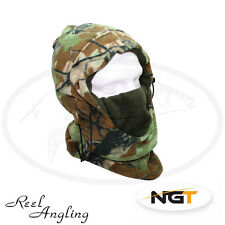 Fleeced Camo Snood Adjustable Neck Warmer Winter Fishing Hunting NGT Tackle