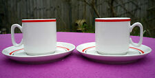 Pair of Vintage Tognana Italian Porcelain Espresso Cups