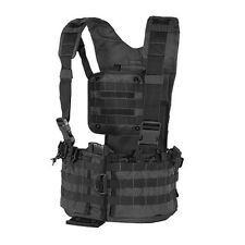 Voodoo Tactical Hunting Chest Rig Vest with Magazine & Hydration Pouch Black
