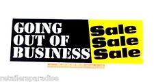 """POPULAR GOING OUT OF BUSINESS SALE 28"""" LONG STORE WINDOW AND WALL POSTER BANNER!"""