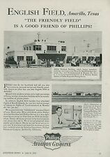 1945 Phillips Aviation Gas Ad English Field Airport Amarillo Texas TX Flying