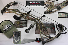 "2016 Hoyt DEFIANT TURBO 70#/28""-30""DL #3CAM Righ Hand RealTree XTRA PACKAG Bow"