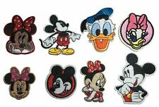 Disney Mickey Mouse, Minnie Mouse, Donald Duck  Embroidered Iron On 8 Patch Set
