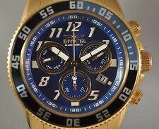 New Invicta 16554 Cruiseline LE Swiss Chrono Blue Dial Gold Tone Steel Watch
