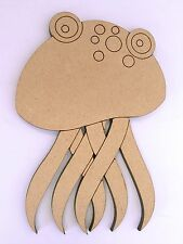 One Wood Wooden Marine Jelly Fish Shape MDF 20cm High Kids Craft DIY Paint