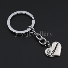 X'mas Gifts Heart Crystal Keychains Keyrings Key Finder Jewelry For Bridesmaid