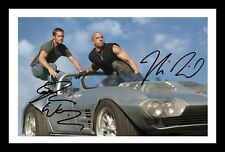 FAST & FURIOUS - PAUL WALKER & VIN DIESEL SIGNED & FRAMED PP POSTER PHOTO