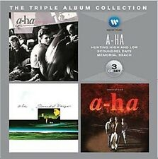 A-HA Triple Album 3CD NEW Hunting High And Low/Scoundrel Days/Memorial Beach