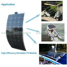 100W Lightweight Semi-Flexible Bendable Solar Panel 12V Battery Off Grid