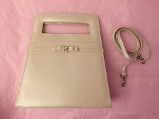 Charming Ivory Pearlised faux leather with Bow Ladies Evening Formal clutch bag