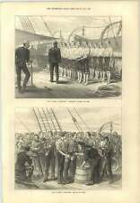 1873 Troopship Inspection Of Hands And Feet Serving Out Grog