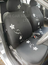 TOYOTA CARINA / YARIS CAR SEAT COVERS - DIAMOND FLOWER FULL SET