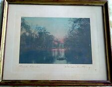 WALLACE NUTTING TINTED PHOTOGRAPH signed and tittled Flush Banks