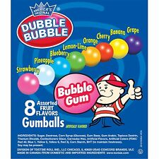 1000 DUBBLE BUBBLE GUM BALLS 1' ROUND (.25 CENT VENDIN) GUMBALLS  GUM $250 VALUE