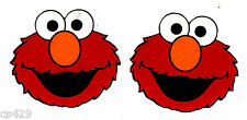 """1.5"""" SESAME STREET ELMO  FACE SET CHARACTER  PREPASTED WALL BORDER CUT OUT"""