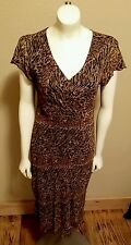 studio west dress L leopard print chiffon material 479