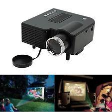 Mini Portable LED Projector Home Cinema Theater PC Laptop VGA USB SD AV HDMI Blk