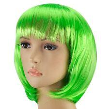 Vert enfants court bob cut déguisements perruques perruque costume jouer partie stag do adultes