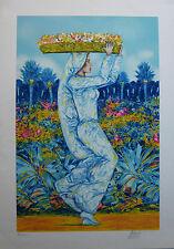 QUARTO ANDREA 50x70 serigrafia + cornice Donna fiori natura quadro grecoarte