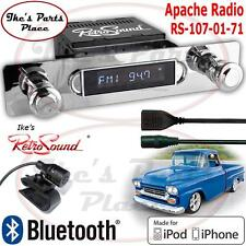 RetroSound 55-59 Chevy Truck Model Apache Radio/BlueTooth/iPod/USB/3.5mm AUX-In
