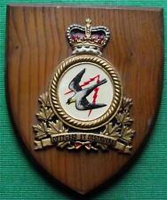 Old Canadian Forces Air Defence Command RAF Royal Air Force Crest Shield Plaque