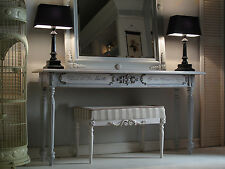 French Console Table Furniture, Gray Vanity Table Ex-Long