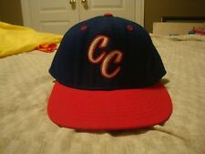 VTG unknown Minor League DeLong hat CC 7 1/4 fitted RARE New Era Corpus Christi