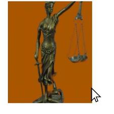 Lawyer Law Lady Blind Justice Art Bronze Sculpture Statue Figurine1