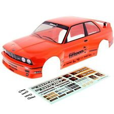 HPI 1/10 RS4 Sport 3 4WD Drift * BMW M3 E30 ORANGE BODY & DECALS * Cover Shell