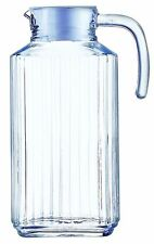 511296 BHL Luminarc Glass Quadro Fridge Jug 1.7 Litre, White Lid