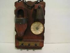 Vintage Wooden Thermometer wooden and bell   C & F Degrees  Rdo. de asturias