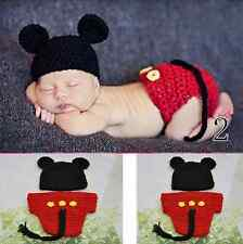 2014 New Baby Girls Boy Newborn Knit Crochet Clothes Photo Prop Outfits 0-9M +HB