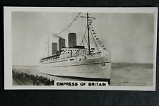 SS Empress of Britain   Canadian Pacific   at Southampton   Vintage Photo Card