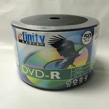 100-Pack 16X efinity Logo DVD-R DVDR Blank Storage Media Disc 4.7GB 120Min