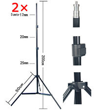 2 × Pro Lightstand 2meter 6.6 Pies Studio Ajustable Flash Luz Continua Stand