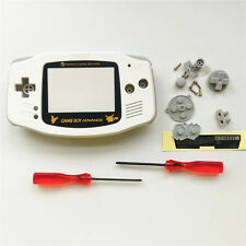 Gold Pikachu Housing Shell Case Pack For Nintendo Game boy Advance GBA - White