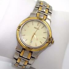 Authentic Gucci 9040G Two Tone Stainless Steel Men's Quartz Wrist Watch QX