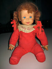 BABY SECRET DOLL-60'S MATTEL-Draw String Works, Mouth Moves Just Needs TLC/Clean
