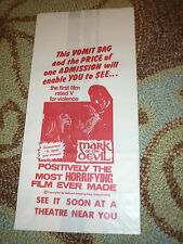 Mark of the Devil Wax Vomit Bag Movie Theater Giveaway First V Rated Film HORROR