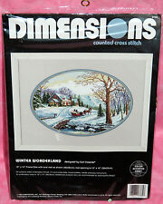 New 1995 Dimensions Winter Wonderland Counted Cross Stitch Kit Carl Valente Snow