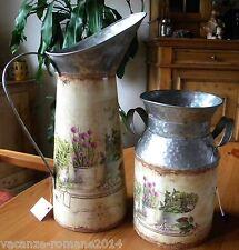Milchkannen groß+ klein - Nostalgie -Deko- Lanfhausstil- Deko  Lavendel-Blumen