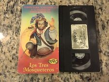 LOS TRES MOSQUETEROS THREE MUSKETEERS VHS 1942 SPANISH MARIO MORENO CANTINFLAS!
