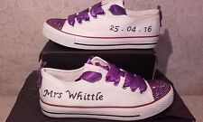 Handmade Crystal Bling Shoes Trainers Pumps Personalised Bridal Wedding Prom Hen