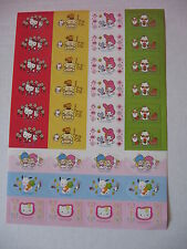 Sanrio Stickers/Labels Hello Kitty Little Twin Stars, Pochacco  '76, 2000 NEW