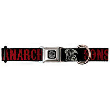 NEW Sons Of Anarchy SOA SAMCRO Fear The Reaper Seatbelt Buckle Dog Pet Collar SM